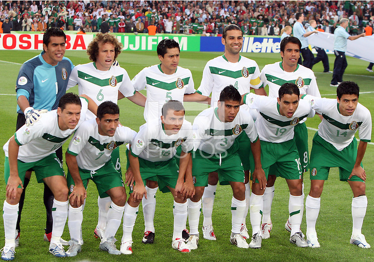 Mexican starting eleven. Mexico and Angola played to a 0-0 tie in their FIFA World Cup Group D match at FIFA World Cup Stadium, Hanover, Germany, June 16, 2006.