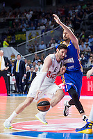 Real Madrid's Rudy Fernández and Khimki Moscow's Alexey Shved during Euroleague match at Barclaycard Center in Madrid. April 07, 2016. (ALTERPHOTOS/Borja B.Hojas) /NortePhoto