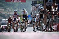 Simon Gerrans (AUS/Orica-GreenEDGE) loses more then 17 minutes on the stage winner when coming in over the finish line<br /> <br /> 2015 Giro<br /> st4: Chiavari - La Spezia (150km)