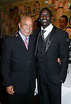 WEST HOLLYWOOD, CA. - February 08: Berry Gordy, Founder of Motown Records and Recording Artist Akon attend the Universal Music Group Chairman Doug Morris' Grammy Awards Viewing Dinner at The Palm on February 8, 2009 in West Hollywood, California.