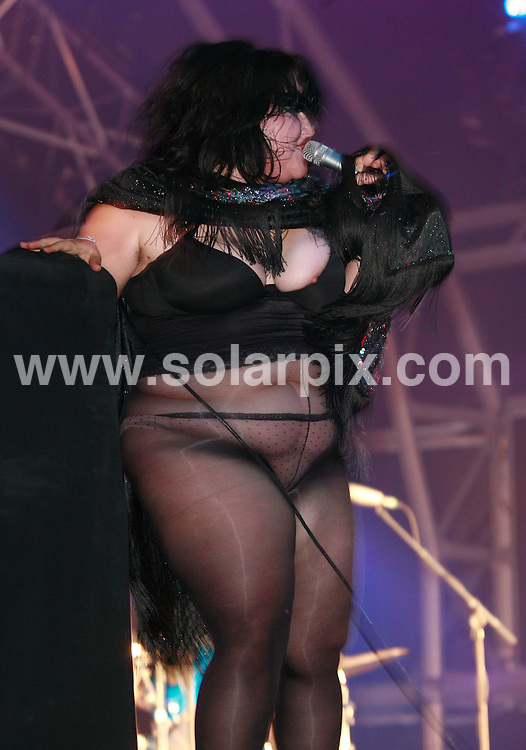 **ALL ROUND PICTURES FROM SOLARPIX.COM**.*WORLDWIDE RIGHTS*.The Gossip perform at Bestival, Isle of Wight, UK. Sunday 9th August 2007...This pic: Beth Ditto..JOB REF: 4667 GMT   DATE: 09_09_2007. .**MUST CREDIT SOLARPIX.COM OR DOUBLE FEE WILL BE CHARGED* *UNDER NO CIRCUMSTANCES IS THIS IMAGE TO BE REPRODUCED FOR ANY ONLINE EDITION WITHOUT PRIOR PERMISSION*