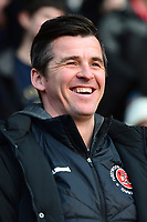 Fleetwood Town manager Joey Barton looks on<br /> <br /> Photographer Richard Martin-Roberts/CameraSport<br /> <br /> The EFL Sky Bet League One - Fleetwood Town v Doncaster Rovers - Wednesday 26th December 2018 - Highbury Stadium - Fleetwood<br /> <br /> World Copyright © 2018 CameraSport. All rights reserved. 43 Linden Ave. Countesthorpe. Leicester. England. LE8 5PG - Tel: +44 (0) 116 277 4147 - admin@camerasport.com - www.camerasport.com