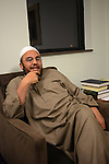 Sheikh Osama Bahloul is seen in his office before Friday evening prayers at the Islamic Center in Murfreesboro, Tennessee on January 5, 2012.