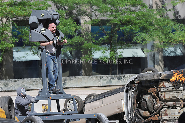 WWW.ACEPIXS.COM . . . . . .May 27, 2013...New York City....Paul Giamatti as Rhino on the movie set of 'The Amazing Spider-Man 2' on Park Avenue on May 27, 2013 in New York City ....Please byline: Kristin Callahan - ACEPIXS.COM.. . . . . . ..Ace Pictures, Inc: ..tel: (212) 243 8787 or (646) 769 0430..e-mail: info@acepixs.com..web: http://www.acepixs.com .