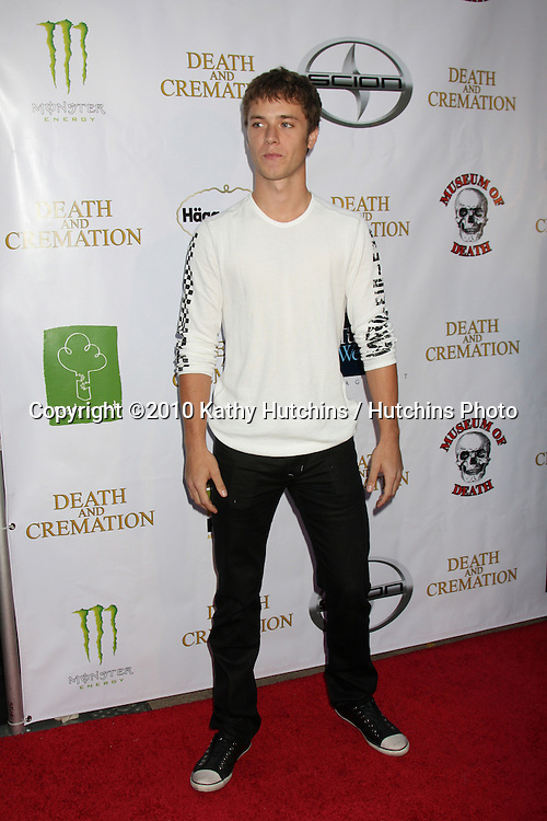 "LOS ANGELES - AUG 26:  Jeremy Sumpter arrives at the ""Death & Cremation} Premiere at 20th Century Fox Studios on August 26, 2010 in Century City, CA"