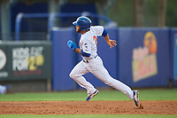 St. Lucie Mets center fielder Desmond Lindsay (2) runs the bases during the first game of a doubleheader against the Charlotte Stone Crabs on April 24, 2018 at First Data Field in Port St. Lucie, Florida.  St. Lucie defeated Charlotte 5-3.  (Mike Janes/Four Seam Images)