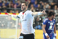 18.01.2013 Barcelona, Spain. IHF men's world championship, prelimanary round. Picture show Christoph Theuerkauf  in action during game between France vs Germany at Palau St Jordi