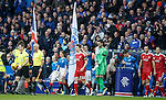 Rangers and Aberdeen emerge for the match