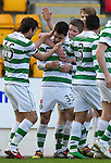 St Johnstone v Celtic.....12.04.11.Beram Kayal celebrates his goal.Picture by Graeme Hart..Copyright Perthshire Picture Agency.Tel: 01738 623350  Mobile: 07990 594431