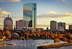 Charles River and the Back Bay skyline, Boston, MA