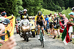 Robert Gesink (NED) Team Lotto NL-Jumbo climbs during Stage 8 of the 104th edition of the Tour de France 2017, running 187.5km from Dole to Station des Rousses, France. 8th July 2017.<br /> Picture: ASO/Alex Broadway | Cyclefile<br /> <br /> <br /> All photos usage must carry mandatory copyright credit (&copy; Cyclefile | ASO/Alex Broadway)