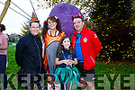 Triona Daly, Sharon Condan, Lucy McGraw and Neil O'Loinsigh enjoying the spooktacular parkrun in Fancy Dress on Saturday