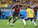 Sami Khedira (GER), Oscar (BRA),<br /> JULY 8, 2014 - Football / Soccer :<br /> FIFA World Cup Brazil 2014 Semi-finals match between Brazil 1-7 Germany at Estadio Mineirao in Belo Horizonte, Brazil. (Photo by SONG Seak-In/AFLO)