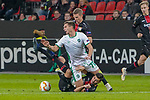 29.11.2018, BayArena, Leverkusen, Europaleque, Vorrunde, GER, UEFA EL, Bayer 04 Leverkusen (GER) vs. Ludogorez Rasgrad (BUL),<br />  <br /> DFL regulations prohibit any use of photographs as image sequences and/or quasi-video<br /> <br /> im Bild / picture shows: <br /> Jakub Swierczok (Ludogorez Rasgrad #70),  unten Aleksandar Dragovic (Leverkusen #6), hinten Lars Bender (Leverkusen #8), <br /> <br /> Foto &copy; nordphoto / Meuter<br /> <br /> <br /> <br /> Foto &copy; nordphoto / Meuter