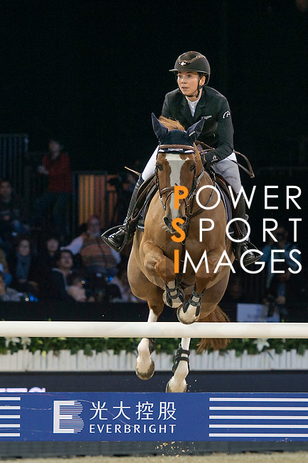 Jane Richard Philips of Switzerland riding Zekina Z competes during the Longines Speed Challenge, part of the <br /> Longines Masters of Hong Kong on 11 February 2017 at the Asia World Expo in Hong Kong, China. Photo by Marcio Rodrigo Machado / Power Sport Images