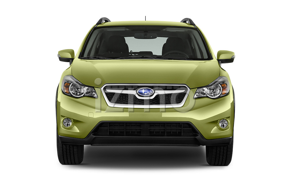 Car photography straight front view of a 2015 Subaru Xv Hybrid 5 Door SUV