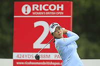 Mi Jung Hur (KOR) on the 2nd tee during Round 2 of the Ricoh Women's British Open at Royal Lytham &amp; St. Annes on Friday 3rd August 2018.<br /> Picture:  Thos Caffrey / Golffile<br /> <br /> All photo usage must carry mandatory copyright credit (&copy; Golffile | Thos Caffrey)