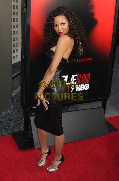 Jurnee Smollett <br /> &quot;True Blood&quot; Season 6 Los Angeles Premiere held at The Cinerama Dome, Hollywood, California, USA.<br /> June 11th, 2013<br /> full length dress black leather strapless side<br /> CAP/ADM/RE<br /> &copy;Russ Elliot/AdMedia/Capital Pictures