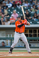 Joey Terdoslavich (7) of the Norfolk Tides at bat against the Charlotte Knights at BB&T BallPark on April 20, 2016 in Charlotte, North Carolina.  The Knights defeated the Tides 6-3.  (Brian Westerholt/Four Seam Images)