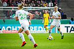 01.05.2019, RheinEnergie Stadion , Köln, GER, DFB Pokalfinale der Frauen, VfL Wolfsburg vs SC Freiburg, DFB REGULATIONS PROHIBIT ANY USE OF PHOTOGRAPHS AS IMAGE SEQUENCES AND/OR QUASI-VIDEO<br /> <br /> im Bild | picture shows:<br /> Nilla Fischer (VfL Wolfsburg #4) am Ball, <br /> <br /> Foto © nordphoto / Rauch