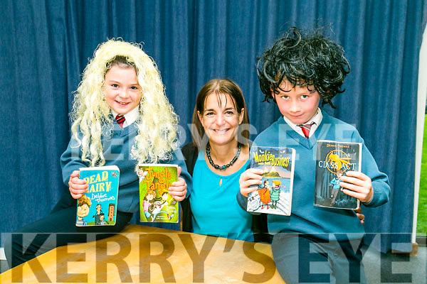 As part of Children's Book Festival, Author Debbie Thomas Visited Tralee Library  on Monday here with Scoil Eoin Students Emily Flynn and Luke Galvin