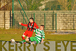 Park's Dylan Seamore and Killarney Celtic's Sean O'Brien..   Copyright Kerry's Eye 2008