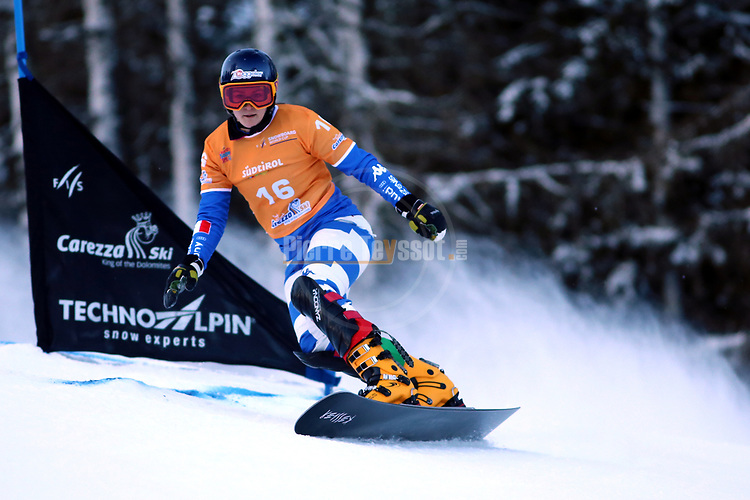 Snowboard World Cup 2018 FIS in Carezza, on December 14, 2017; Parallel Giant Slalom; Nadya Ochner (ITA)<br /> &copy; Pierre Teyssot / Pentaphoto