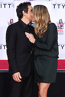 HOLLYWOOD, CA - DECEMBER 03: Ben Stiller, Christine Taylor attending the Ben Stiller Hand/Footprint Ceremony held at TCL Chinese Theatre on December 3, 2013 in Hollywood, California. (Photo by Xavier Collin/Celebrity Monitor)