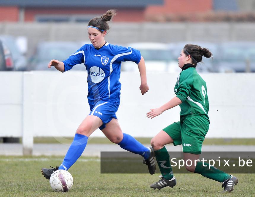 AA Gent Ladies - Lommel : Florien Meulewaeter<br /> foto DAVID CATRY / Nikonpro.be