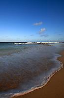 Wave on the beach, Jandia, Fuerteventura, Canary Islands, Spain. May 2007.