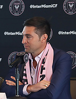 MLS Inter Miami CF,Head Coach Diego Alonso at his Press Introduction.
