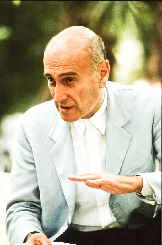 """Fabio Carpi, Writer: L'amore necessario. Fabio Carpi was born on January 19, 1925 in Milan, Lombardy, Italy. He is a writer and director, known for L'amore necessario. """" La prossima volta il fuoco """" Diretto da Fabio Carpi. Pordenone """" Località Panicai """" giugno 1993. © Leonardo Cendamo"""
