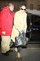 NEW YORK, NY - NOVEMBER 28: Katie Holmes seen in New York City. November 28, 2012. Credit RW/MediaPunch Inc. /NortePhoto
