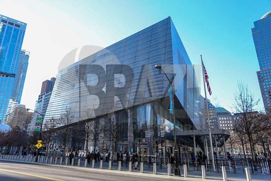 NOVA YORK, EUA, 14.01.2019 - TURSIMO-EUA - Vista do Memorial 11 de Setembro é visto na Ilha de Manhattan na cidade de Nova York nos Estados Unidos nesta segunda-feira, 14. (Foto: William Volcov/Brazil Photo Press)