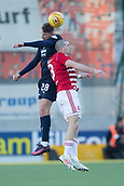 2nd February 2019, Hope CBD Stadium, Hamilton, Scotland; Ladbrokes Premiership football, Hamilton Academical versus Dundee; Andreas Hadenius of Dundee competes in the air with Darian MacKinnon of Hamilton Academical