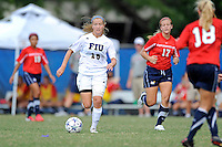 2 October 2011:  FIU midfielder/forward Nicole DiPerna (16) makes her way through the South Alabama defense in the second half as the FIU Golden Panthers defeated the University of South Alabama Jaguars, 2-0, at University Park Stadium in Miami, Florida.