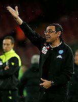 Maurizio Sarri  during the  italian serie a soccer match,between SSC Napoli and Atalanta      at  the San  Paolo   stadium in Naples  Italy , February 26, 2017