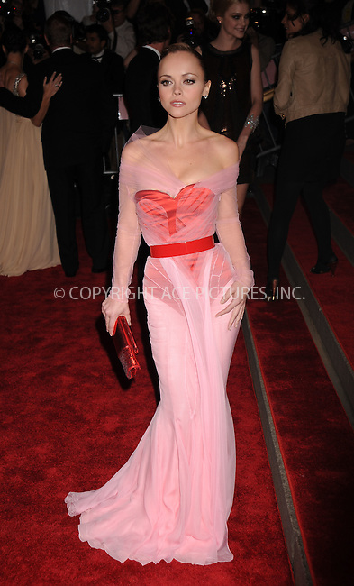 WWW.ACEPIXS.COM . . . . . ....May 5 2008, New York City....Actress Christina Ricci arriving at the Metropolitan Museum of Art Costume Institute Gala, Superheroes: Fashion and Fantasy, held at the Metropolitan Museum of Art on the Upper East Side of Manhattan.....Please byline: KRISTIN CALLAHAN - ACEPIXS.COM.. . . . . . ..Ace Pictures, Inc:  ..(646) 769 0430..e-mail: info@acepixs.com..web: http://www.acepixs.com