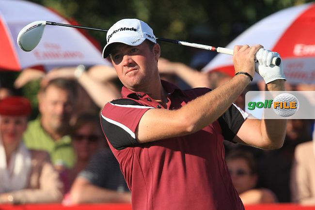 Peter Hanson (SWE) on the third day of the DUBAI WORLD CHAMPIONSHIP presented by DP World, Jumeirah Golf Estates, Dubai, United Arab Emirates.Picture Denise Cleary www.golffile.ie