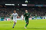 11.02.2018, Weserstadion, Bremen, GER, 1.FBL, SV Werder Bremen vs VfL Wolfsburg<br /> <br /> im Bild<br /> Robin Knoche (VfL Wolfsburg #31), Max Kruse (Werder Bremen #10), <br /> <br /> Foto &copy; nordphoto / Ewert