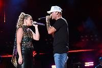 07 June 2018 - Nashville, Tennessee - Lauren Alaina, Kane Brown. 2018 CMA Music Festival Nightly Concert held at Nissan Stadium. <br /> CAP/ADM/DMF<br /> &copy;DMF/ADM/Capital Pictures