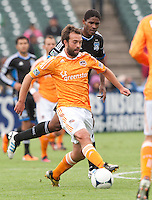 San Francisco, California - Saturday March 17, 2012: Adam Moffat controls the ball during the MLS match at AT&T Park. Houston Dynamo defeated San Jose Earthquakes  1-0