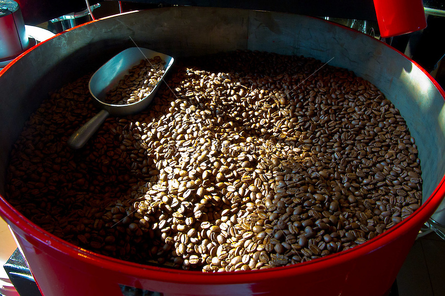 MELBOURNE, AUSTRALIA - May 22, 2010. Coffee roasting at Maling Room, in Melbourne, Australia. Photo by Sydney Low / http://syd-low.com