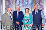 Don rohan, John Spillane, Mary Spillane and Tom Tobin at the Kerrys Stars ball in the Dromhall Hotel on Saturday night