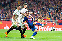 Sevilla FC Clement Lenglet and FC Barcelona Phillippe Coutinho during King's Cup Finals match between Sevilla FC and FC Barcelona at Wanda Metropolitano in Madrid, Spain. April 21, 2018. (ALTERPHOTOS/Borja B.Hojas)