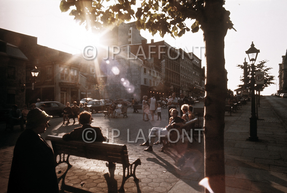 Montreal, June 1976. The streets in Summer.