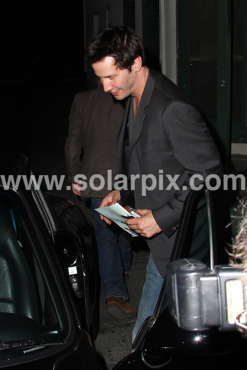 **ALL ROUND PICTURES FROM SOLARPIX.COM**.**WORLDWIDE SYNDICATION RIGHTS**.**NO PUBLICATION IN AUSTRALIA, NEW ZEALAND, DENMARK, GERMANY OR USA**.The Hollywood actor famous for his role in  Matrix Keanu Reeves enjoys live rock music at The Troubadour Club in West Hollywood Los Angeles California in the USA...JOB REF:7416-LAP/JS       DATE:20-09_08 .**MUST CREDIT SOLARPIX.COM OR DOUBLE FEE WILL BE CHARGED* *UNDER NO CIRCUMSTANCES IS THIS IMAGE TO BE REPRODUCED FOR ANY ONLINE EDITION WITHOUT PRIOR PERMISSION*