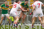 Bryan Sheehan, Kerry in action against Duibhir Marshall Tyrone in the fourth round of the National Football league at Fitzgerald Stadium, Killarney on Sunday.