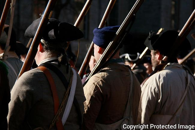 Revolutionary War Re-enactments in Trenton New Jersey.