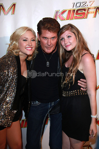 David Hasselhoff and daughters Hayley Hasselhoff and Taylor Hasselhoff at KIIS FM's Wango Tango 2010 at Staples Center  in Los Angeles, California. May 15, 2010  Credit: Dennis Van Tine/MediaPunch